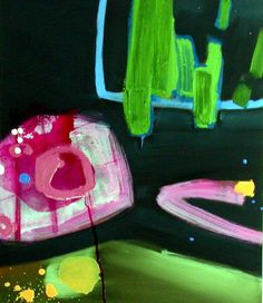 Anna Davanzo: Can You Imagine, 2012 #canvas #painting #abstract #colorful www.kidsofdada.com/products/can-you-imagine