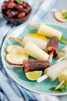 Receta Paletas de Sangria, Mojito y Piña Colada: Sorprende a tus niños con estas refrescantes paletas sin alcohol. Perfectas para este verano.