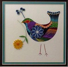 Quilled Folk Art Bird 1