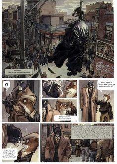 Blacksad est un polar sombre transfiguré dans un monde mi-homme, mi animal.  John Blacksad, un chat détective privé enquête sur diverses affaires qui le conduisent dans des aventures périlleuses et dangereuses.