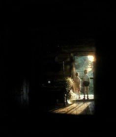 (isn't this a scene from andrei tarkovsky's movie The Mirror? beautiful movie btw)