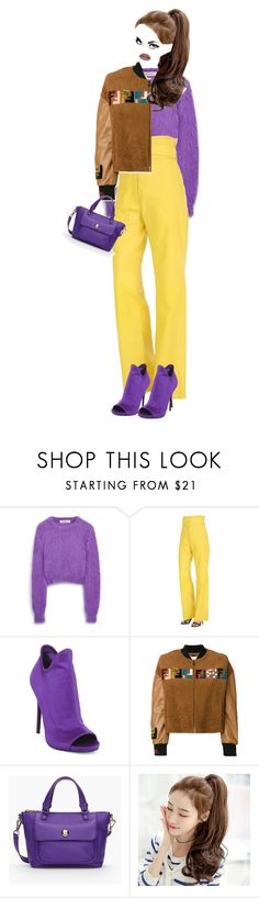 """""""ultra violet"""" by katymill ❤ liked on Polyvore featuring Mulberry, Loewe, Steve Madden, Fendi, Talbots, violet and ultraviolet"""