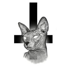 #sphynx #sphinx #cat #tattoo #sketch #cross #wacom