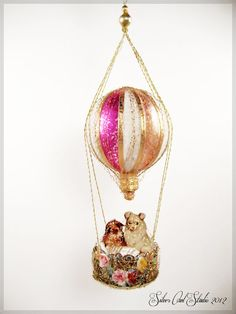 Victorian Style Christmas Ornament  Hot Air by SilverOwlStudio