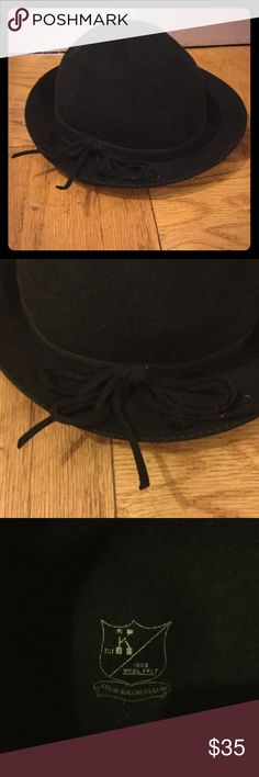 100% felt wool VINTAGE women's hat Keep warm just in time for winter!  Geo W Bollman & Company began making hats in 1868 and have a very rich history. Geo W Bollmam & Co Accessories Hats