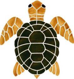 mosaic Turtle Bottom Medium Natural
