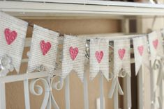 Paper heart banner with book pages