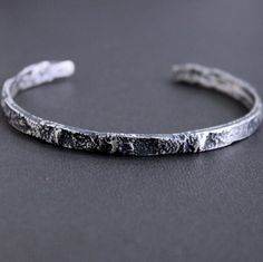 Men's This Rustic Silver Cuff Mens Silver Bangle, Silver Bangle Bracelets, Bracelets For Men, Sterling Silver Bracelets, Designer Mens Bracelets, Bracelet Men, Copper Bracelet, Beaded Bracelets, Man Jewelry