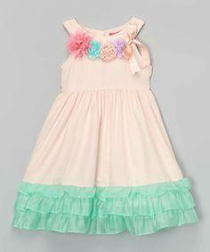Love this Pink & Aqua Flower Dress - Toddler & Girls by Bonny Billy on #zulily! #zulilyfinds