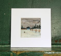 Hand Needle Felted Winter Landscape by pdlugos