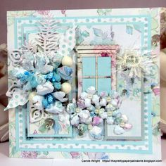 Another gorgeous card by the talented Carole Wright! FabScraps C105 Memory Lane Collection.