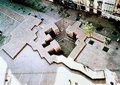"Eduardo Chillida ""The Basque Liberties Plaza"", Reinforced concrete and… Historical Architecture, Architecture Details, Landscape Architecture, Architecture Diagrams, Architecture Portfolio, Landscape Model, Urban Landscape, Landscape Design, Urban Ideas"