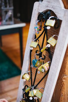 Guest Book Alternative -- A spin on European Love Locks. On SMP: http://www.StyleMePretty.com/midwest-weddings/2014/02/20/eclectic-chicago-wedding/ Jason Curescu Photography