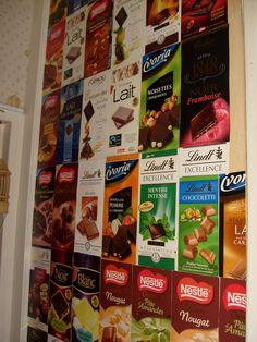 Mur de cuisine tout chocolat