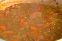 Lentil Sausage Soup recipe from Ina Garten via Food Network