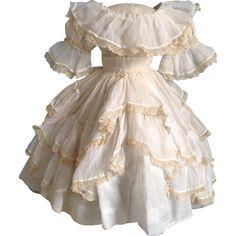 Original 1860s Fine Lawn Enfantine style dress for Early Fashion