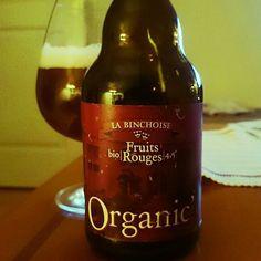 Fruits Rouges from La Binchoise. | ABV 4.5 | Great Beer. Real nice taste of red berries mostly rasberry  #fruitsrouges #labinchoise #Beer #belgianbeer #loveinabottle #beerporn #biere #organic #takemymoney