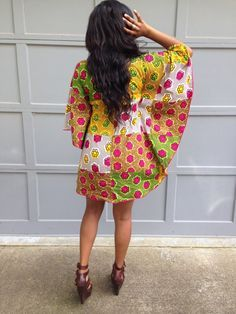 The Vivian Dress Ankara Butterfly Dress by ItsArchel on Etsy
