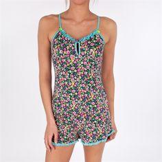 Betsey Johnson Luscious Lite Cami Pajama Set #VonMaur #BetseyJohnson #Blue #Floral #Pajama #Sleepwear