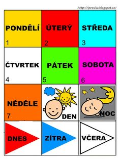 Pro Šíšu: Pracovní listy POZNÁNÍ Preschool Themes, Preschool Worksheets, Peta, Videos Funny, Montessori, Crafts For Kids, Language, Classroom, Adhd