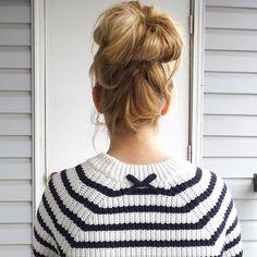 Big bun hair 45 Pretty Ideas for Casual and Formal Bun Hairstyles Your Engagement Ring - How To Choo Donut Bun Hairstyles, Roll Hairstyle, Braided Hairstyles, Formal Hairstyles, Hairstyle Ideas, Formal Bun, Blonde Bun, Messy Bun, Topknot Bun