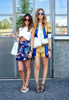 Style Bloggers: Chiara Ferragni from The Blodne Salad and Zina Charkoplia from Fashion Vibe.