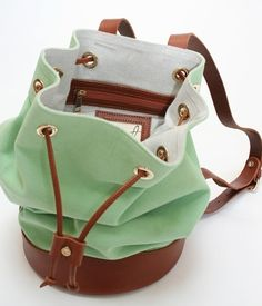 Mint Green Knap-sack! So cute
