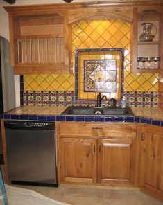 Mexican Tile In Bbq Area Custom Decks Outdoor Kitchens