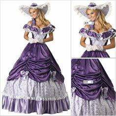 Freeship Victorian Corset Gothic/Civil War Southern Belle Ball Gown Dress Halloween dresses Sz US 6-26 XS-6XL V-1 $137.37