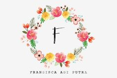 Watercolor Floral Wreath 2 - Illustrations