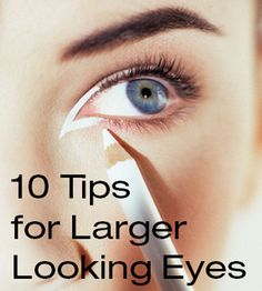 ways to make your eyes look bigger with and without makeup.How to Make Eyes Look Bigger with Makeup, Beauty Hacks.How to Make Your Eyes Look Bigger (With Makeup) Sweet Makeup, Love Makeup, Beauty Makeup, Makeup Looks, Face Beauty, Makeup Art, Big Eye Makeup, Eye Enlarging Makeup, Applying Makeup