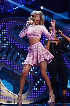 Taylor Swift performs at the iHeartRadio Music Festival at the MGM Grand Garden Arena on Sept. 19, 2014, in Las Vegas. Getty Images -Cosmopolitan.com
