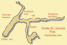 Plan de la grotte de Lascaux ( Map Lascaux Cave)