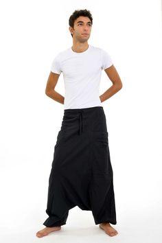 K1402 Sarouel noir Mikos 100% pur coton du Népal ethnique ethique equitable créé par fantazia Nepal Culture, Harem Pants, Trousers, Mannequin, Mens Fashion, Travel Nepal, Shopping, Cities, Products