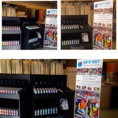 Comptoir peinture APY'ART au magasin Blancolor Mougins - Le Cannet #apyart#peinture#beauxarts#blancolor