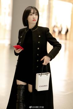 Song Qian, Victoria Song, Airport Style, Songs, Coat, Jackets, Outfits, Dresses, Asian