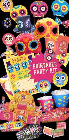 Dia de los Muertos party printables