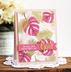 card tropical leaf leaves monstera, Palm Prints and Inspired: God stamp sets for today's group post. Stampin Up, Leaf Cards, Scrapbooking, Stamping Up Cards, Marianne Design, Up Girl, My Stamp, Flower Cards, Cute Cards