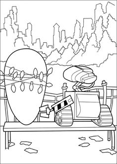 Wall-E Tegninger til Farvelægning. Printbare Farvelægning for børn. Tegninger til udskriv og farve nº 10
