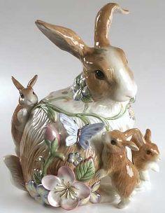 fitz and floyd rabbit figurine | 11 1 4 rabbit babies