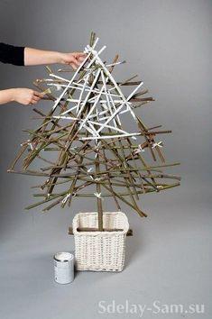 3 идеи: Самодельная елка своими руками