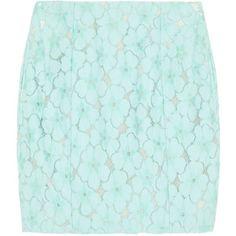 Diane von Furstenberg Clyde floral lace mini skirt