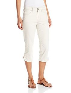 NYDJ Womens Petite Ariel Crop Jeans with Curved Hem in Colored Bull Denim Clay 10 Petite *** You can get additional details at the image link.