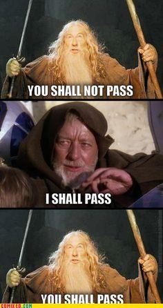 Jedi vs. wizard… no contest. Sorry, Gandalf!