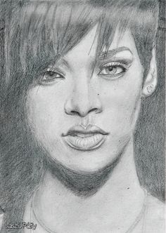 My drawing - Rihanna
