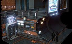 3D Cyberpunk Alley Environment — Evozon Game Studio — Medium