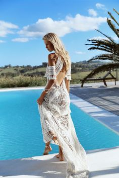 Boho weddings are super popular, and this trend is going to stay. If you are a boho bride, you may be looking for some inspiration, and what can be more inspiring than a beautiful boho wedding dress? Affordable Wedding Dresses, Blue Wedding Dresses, Lace Mermaid Wedding Dress, Bohemian Wedding Dresses, Gorgeous Wedding Dress, Bridal Dresses, Lace Wedding, Bohemian Style, Boho Chic