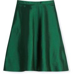 Valentino Mikado A-Line Skirt ($1,590) ❤ liked on Polyvore