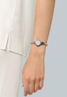 DKNY - CROSSWALK - Uhr - silver-coloured