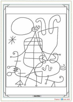Miro Coloring Pages Desenhos Halloween, Montessori Art, Art Basics, 4th Grade Art, Pattern Coloring Pages, Spanish Art, Doodle Coloring, Colouring, Ecole Art